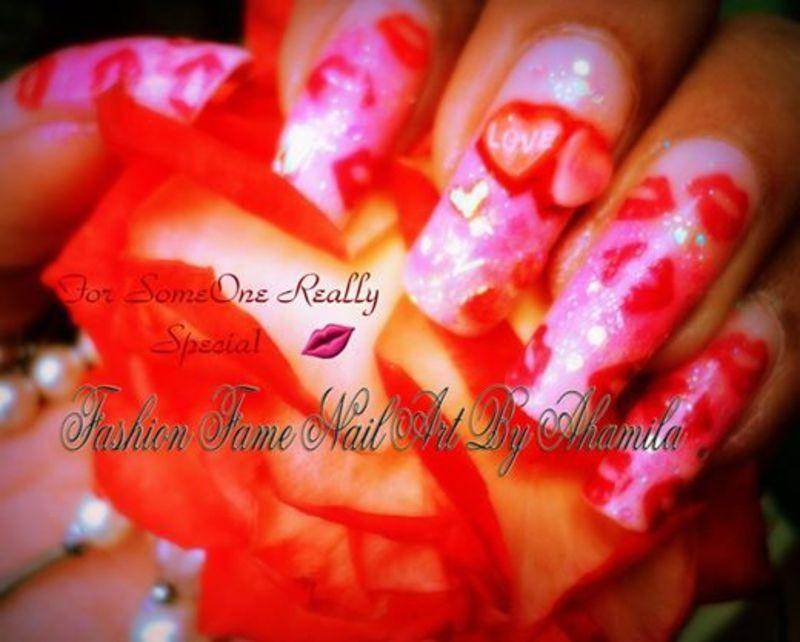 V Day Nail Design nail art by shamila diluckshi