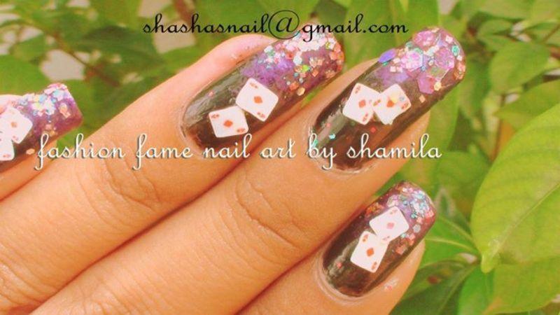 Poker games nail design nail art by shamila diluckshi