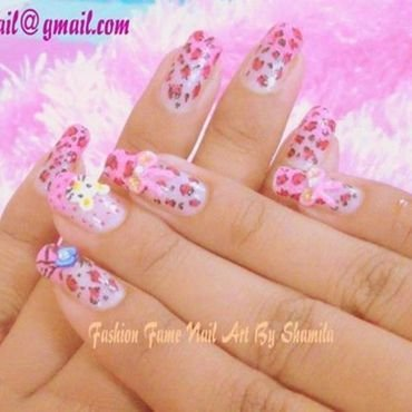 3D Hellokitty and leoprd design nail art by shamila diluckshi