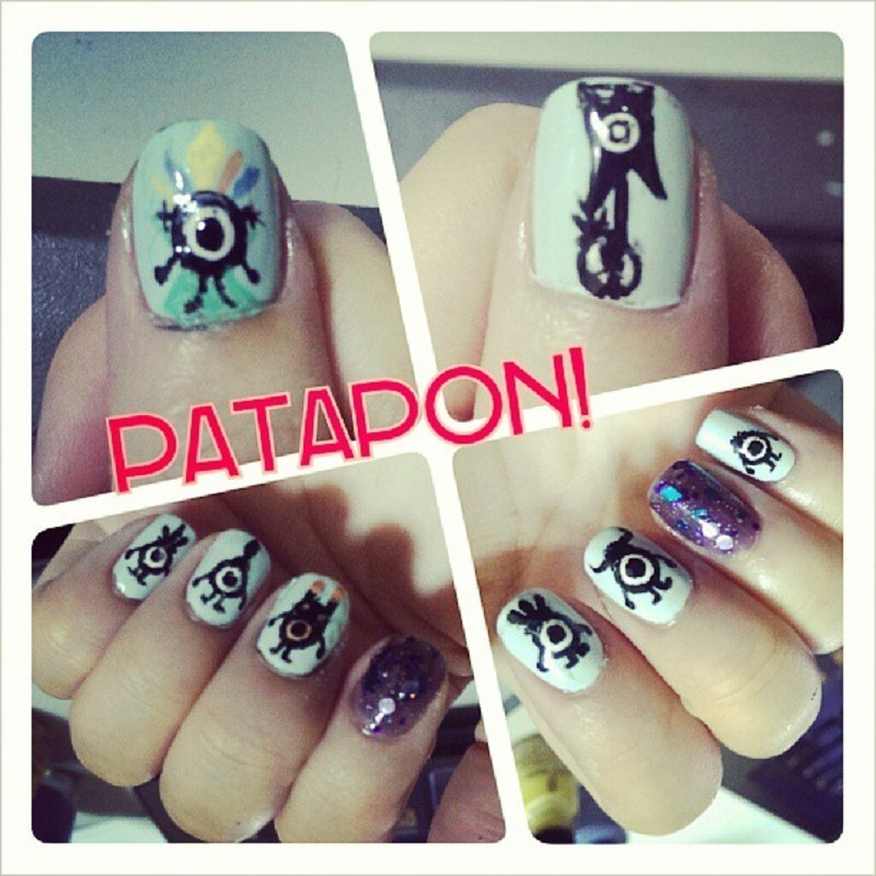 I Love Patapon ! nail art by JingTing Jaslynn