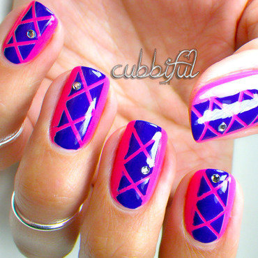 Craving For Neon nail art by Cubbiful