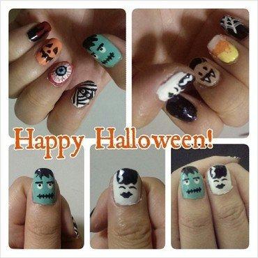 Halloween Characters nail art by JingTing Jaslynn