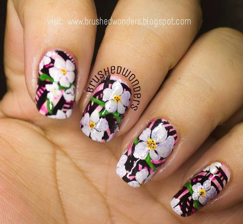 Flower Power nail art by Kate