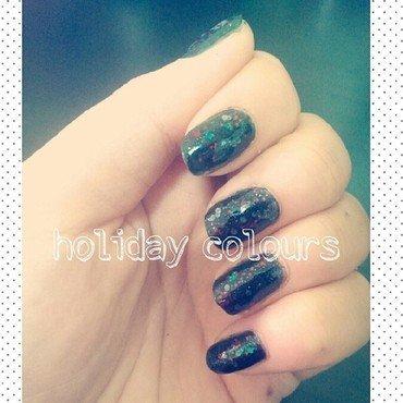 Holiday Colors nail art by JingTing Jaslynn
