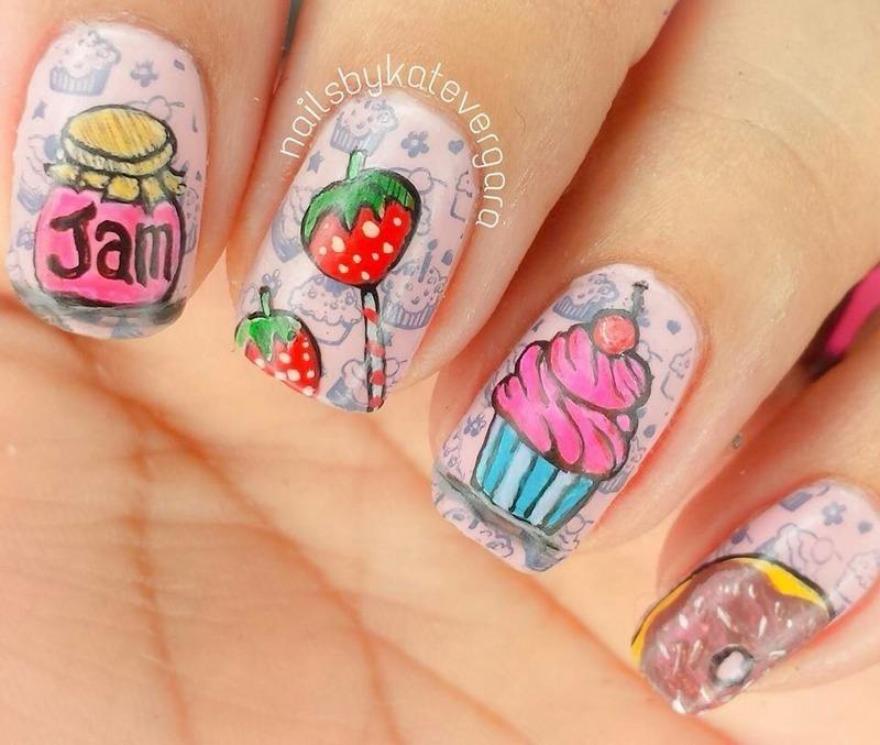 Yummy Treats nail art by Kate