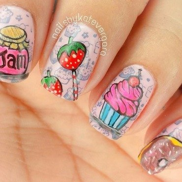 Yummy Treats nail art by Kate