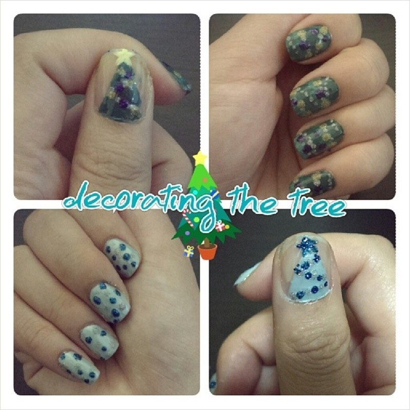 Decorating the Tree nail art by JingTing Jaslynn