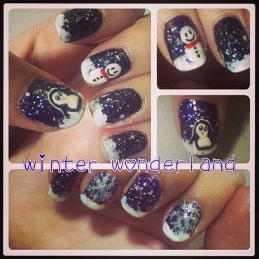 Winter Wonderland  nail art by JingTing Jaslynn