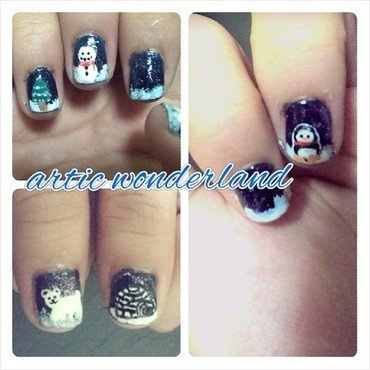 Winter Wonderland II nail art by JingTing Jaslynn