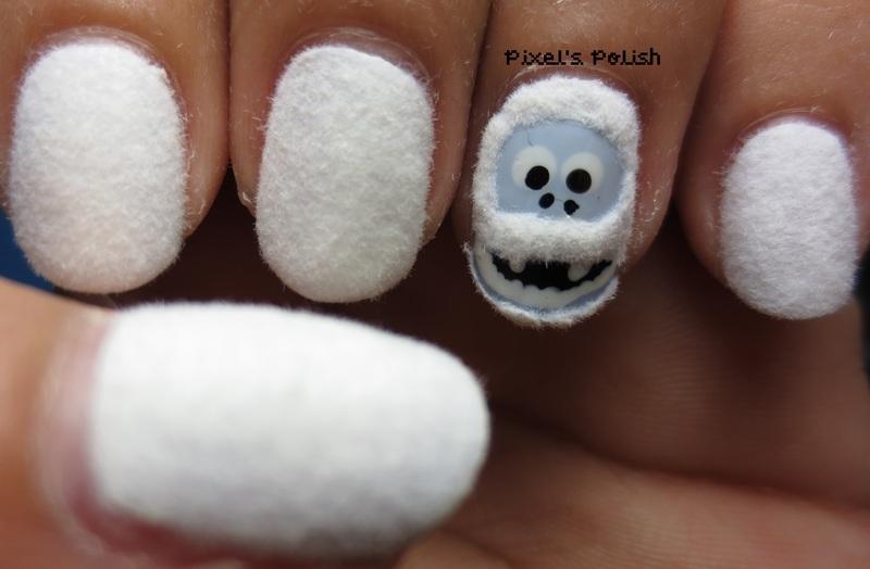 Abominable Cuteness! nail art by Pixel's Polish