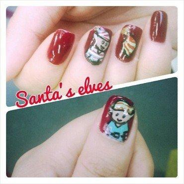 Santa's Elves nail art by JingTing Jaslynn
