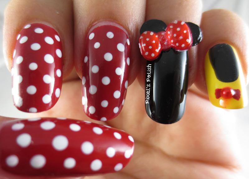 Yoo-Hoo Minnie! nail art by Pixel's Polish