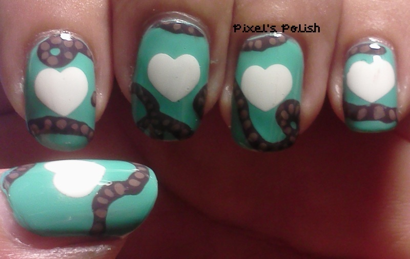 Rope My Heart nail art by Pixel's Polish