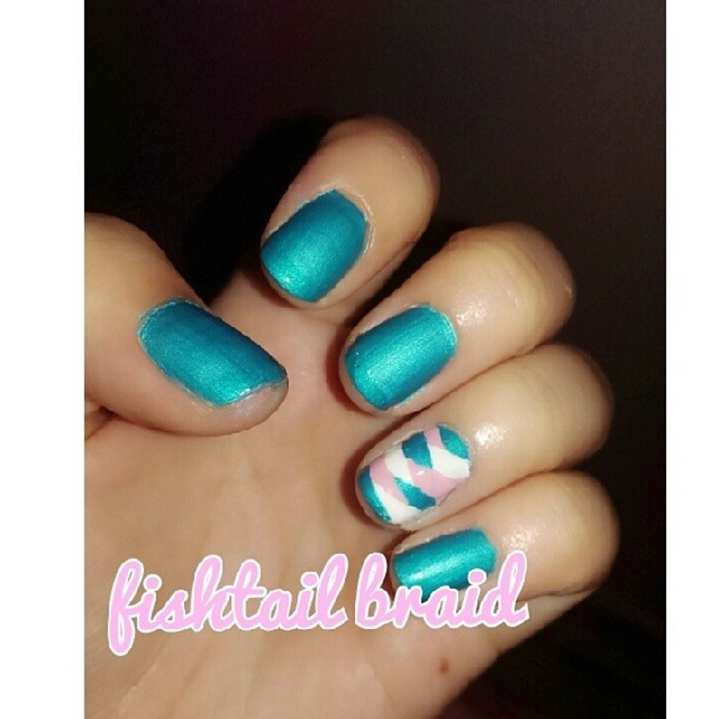 Fishtail Braid nail art by JingTing Jaslynn