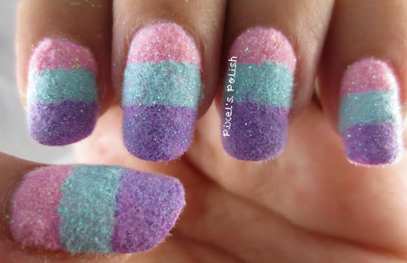 Cotton Candy Dreams nail art by Pixel's Polish