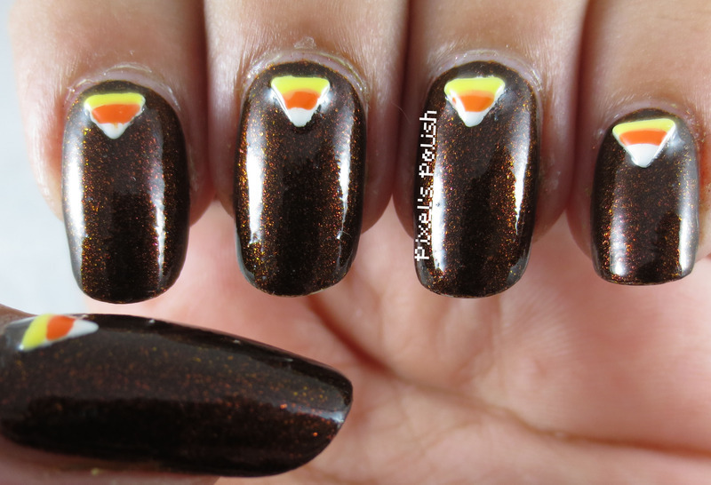 Autumn nail art by Pixel's Polish