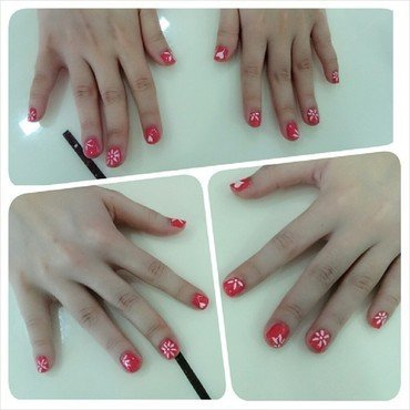 Petals nail art by JingTing Jaslynn