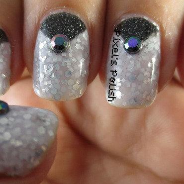 Black & White nail art by Pixel's Polish