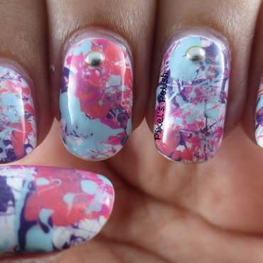 Splatter! nail art by Pixel's Polish