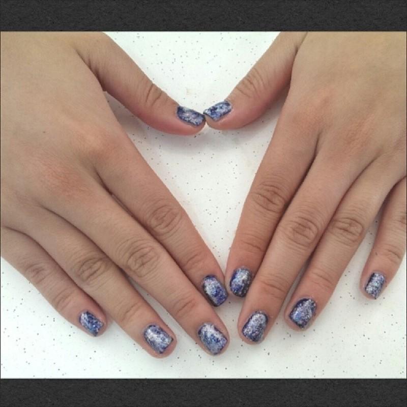 Galaxy Nails II nail art by JingTing Jaslynn