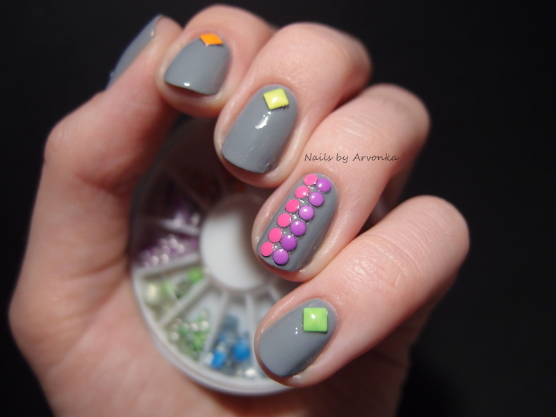 Colorful Neon nail art by Veronika Sovcikova
