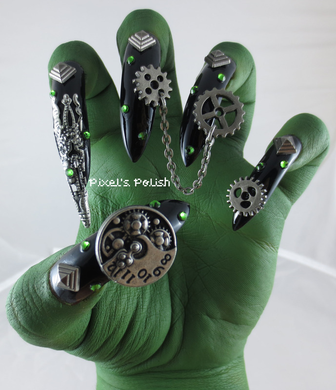 Simply Wicked nail art by Pixel's Polish