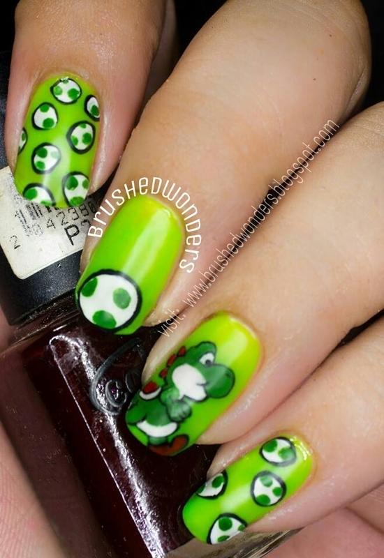 yoshi  ail art nail art by Kate