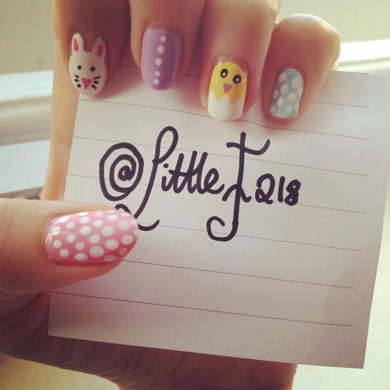 Spring nail art by  Faye