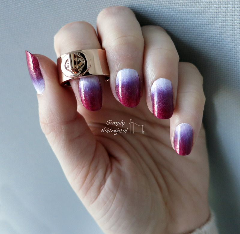 Valentine's gradient nail art by simplynailogical
