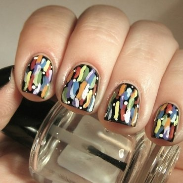 Colorful Squiggles ♡ nail art by Jennifer Collins