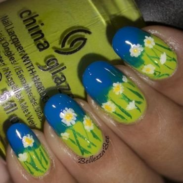 Fresh daisies nail art thumb370f