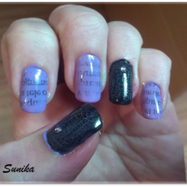 Newspaper nail art by sunikamadrid