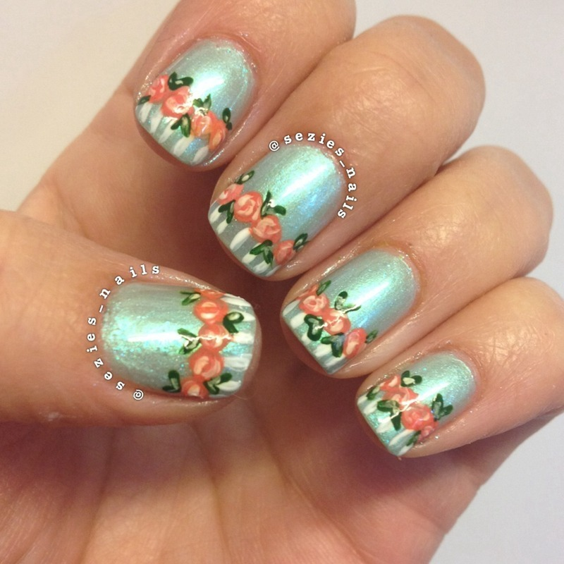 Spring time nail art by Sarah Bellwood