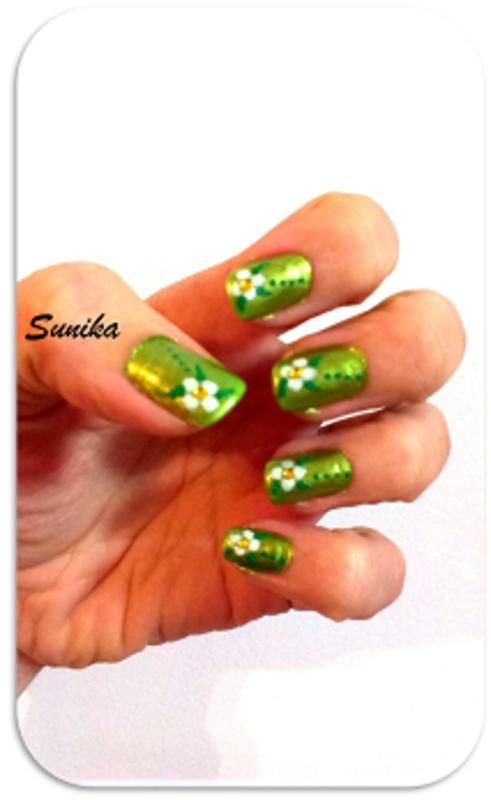 Green Spring nail art by sunikamadrid