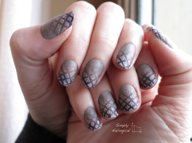 Taupe ombre with a hint of pixie dust nail art by simplynailogical