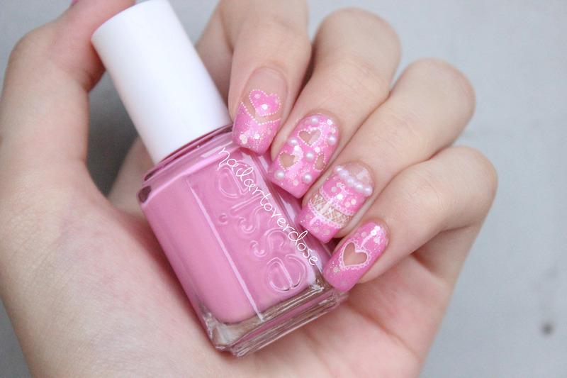 Cut Out Hearts and Lace nail art by nailartoverdose
