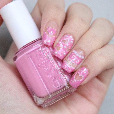 Cut Out Hearts and Lace nail art by nailartoverdose