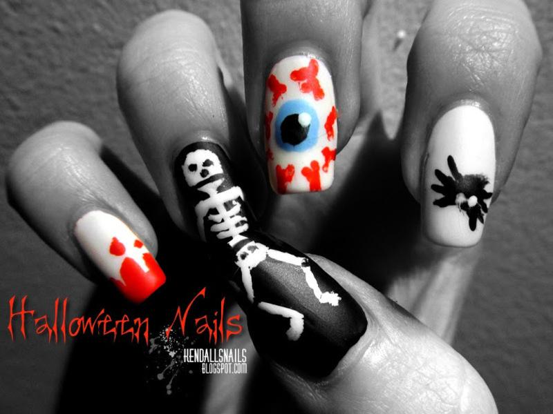 Halloween nail art by Julia Friedel