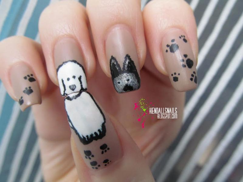 Dogs nail art by Julia Friedel
