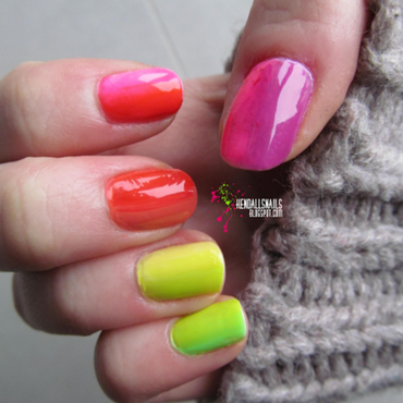 Rainbow Gradient nail art by Julia Friedel
