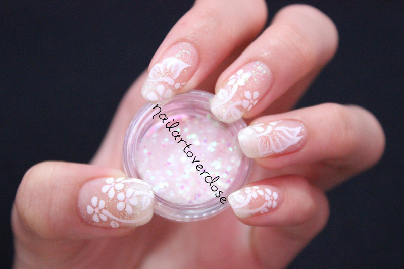 Butterflies and Flowers nail art by nailartoverdose