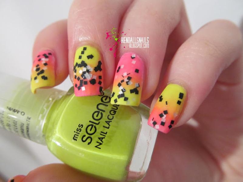 Neons nail art by Julia Friedel