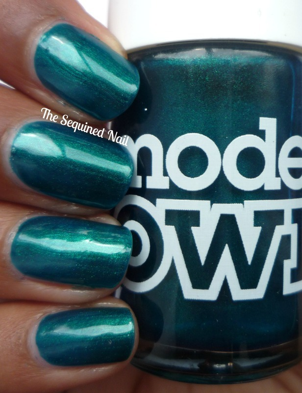 Models Own Peacock Green Swatch by TheSequinedNail