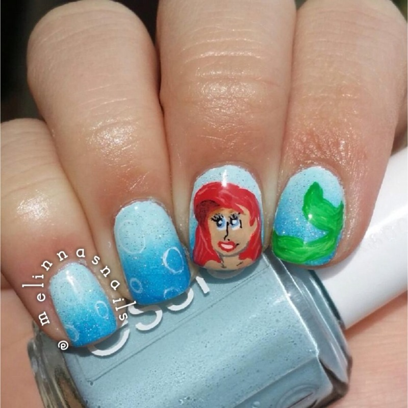 Little mermaid nails nail art by Melinna Hostetler - Little Mermaid Nails Nail Art By Melinna Hostetler - Nailpolis