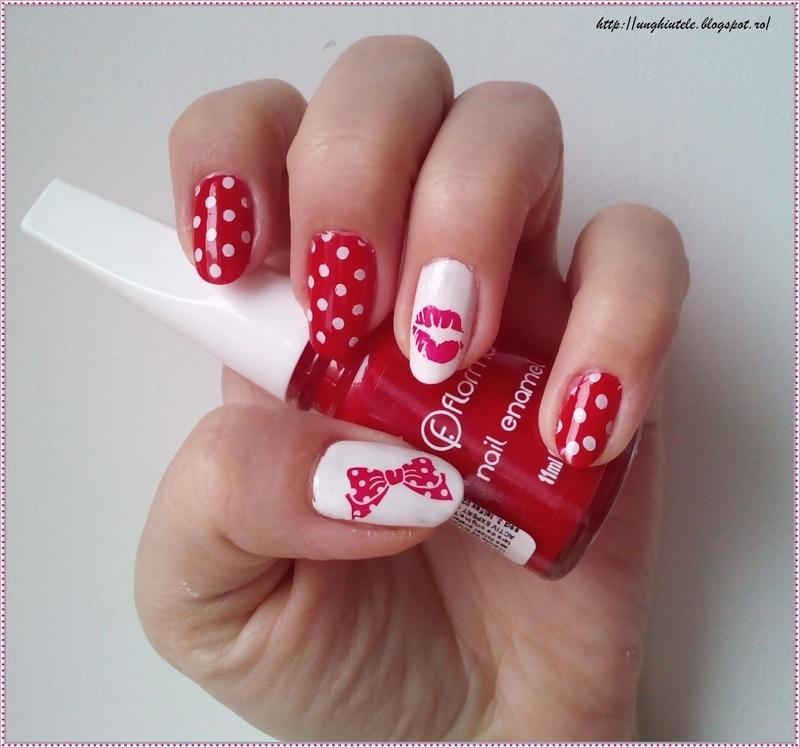 Pin Up nails nail art by Oana  Alexandru
