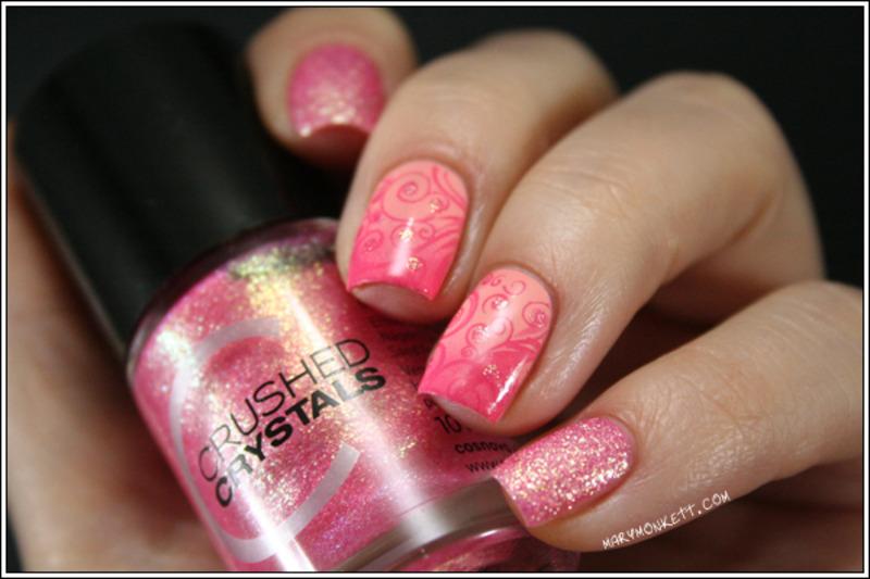 Call Me Princess nail art by Mary Monkett