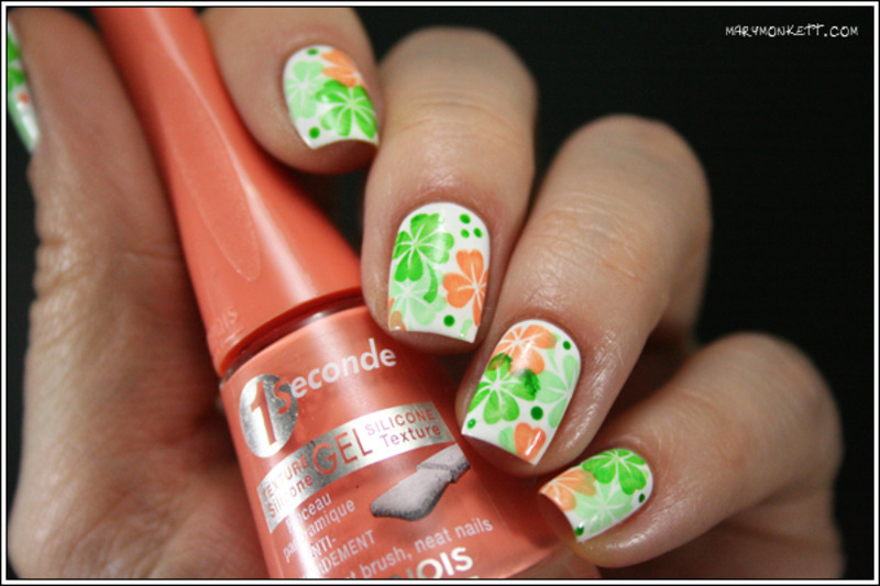 Saint Patrick nail art by Mary Monkett