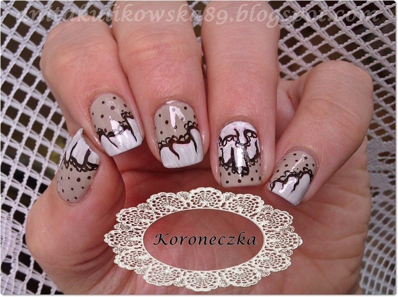 Lace nails nail art by Anita