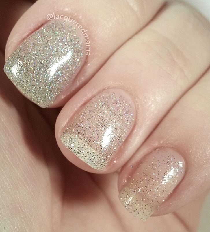 Glitter Love nail art by Jennifer Collins