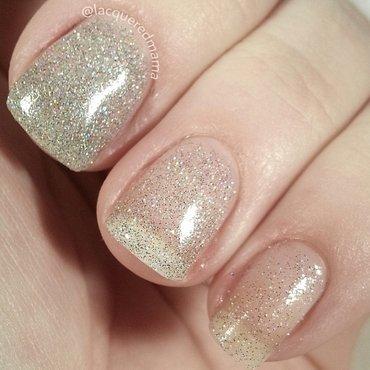 Glitter Love nail art by Jennifer Collins